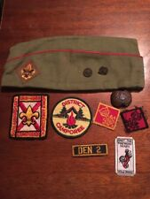 Boy Scout Hat Size M  & Pins,Patches Lot