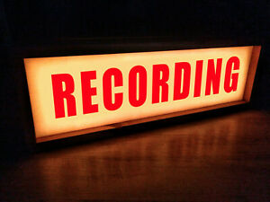 Recording Studio Light Box - Recording Light- Recording Light Up Sign