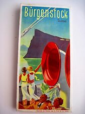 Beautiful 1930's Switzerland Travel Brochure w/ Art Deco Illustration on Cover *