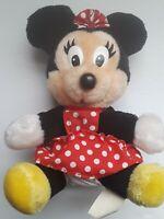 "Vintage 70s Disneyland Disney World Parks 8""  Plush  Stuffed Animal Minnie Mouse"
