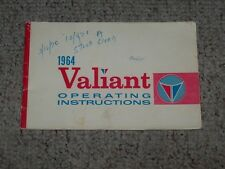1964 Plymouth Valiant Barracuda Cuda Owner Operator User Guide Manual ORIGINAL