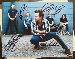 "Pearl Jam Autographed 8""x10"" Photo w/COA"
