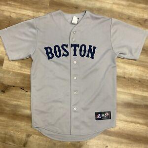JASON BAY BOSTON RED SOX MAJESTIC ROAD GRAY MLB BASEBALL JERSEY ADULT MEDIUM