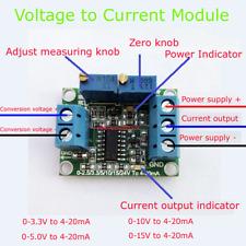 Voltage to Current 0-5V/10V/15V to 4-20mA Isolation Transmitter Signal Converter