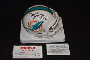Signed Ricky Williams Miami Dolphins Mini Helmet w/TriStar Cert