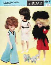 VINTAGE SINDY / BARBIE SET  3ply - COPY doll knitting pattern