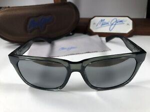 Maui Jim MJ Boardwalk 539-11 Translucent Grey Sunglasses W/Grey Polarized Lens