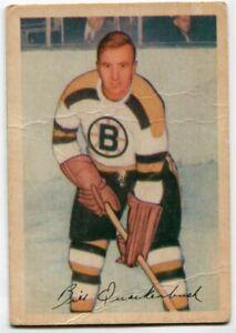 1953/54 Parkhurst Bill Quackenbush Card #100 Boston Bruins