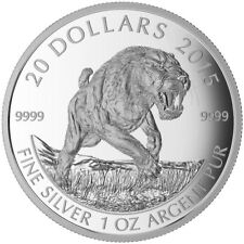 Prehistoric Animals: Sabre-Tooth Cat - 2015 Canada $20 Fine Silver Coin