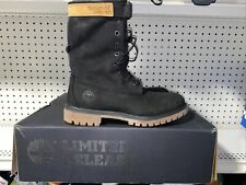 """Timberland Special Release 6"""" Premium Gaiter Mens Leather Boots Size 8.5 Black"""