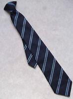 Cravate Vintage Rétro Cravate Garçons Hommes École Collège Club Bleu Marine Rayé