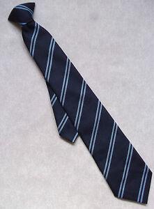 Tie Vintage Retro Necktie BOYS MENS School College Club NAVY BLUE STRIPED