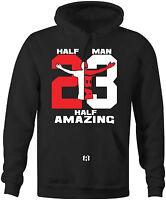 """HALF MAN HALF AMAZING"" 23 Hoodie to Match Air Retro 11 ""72-10"""