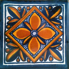 #C001) Mexican Tile sample Ceramic Handmade 4x4 inch, GET MANY AS YOU NEED !!