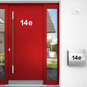 Wandtattoo Hausnummer Wand Aufkleber Buchstaben Ziffer Tür Briefkasten W5384