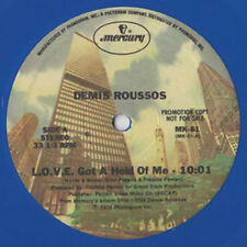 """Demis Roussos – L.O.V.E. Got A Hold Of Me / I Just Live - 12"""" INCH    COLOR"""