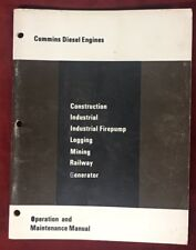 1972 Cummins Operation & Maintenance Manual-for SPECIAL USE Diesel Engines