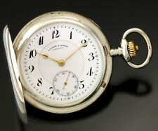PREMIUM QUALITY STERLING SILVER A. LANGE & SOHNE POCKET WATCH | 17 JEWELS