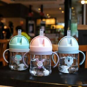 Plastic Learning Drinking Cup Children Water Cups Cartoon Feeding Bottles