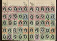 Collection of Worldwide Coronation 1953 used Stamps on old Dealer Approval Pages