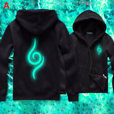 Anime Naruto Konoha Logo Hoodie Sweatshirt Cotton Jacket Luminous Size M-XXXL