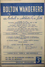 More details for bolton wanderers reserves v blackburn rovers & birmingham city reserves 1955/56