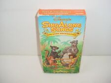 Disneys Sing Along Songs The Jungle Book Bare Necessities VHS Video Tape Movie