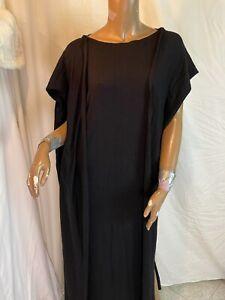 """Kirrily Johnston Loves Maxshop"" Black Long Cosy Winter Knit Maxi Dress Size S"