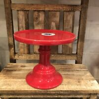 Red Ceramic Stand / Riser Made In Portugal Great For Rae Dunn Valentine Displays