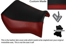 BLACK & DARK RED CUSTOM FITS YAMAHA MT 03 06-13 FRONT LEATHER SEAT COVER