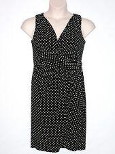 NWT LAUREN RALPH LAUREN Women's Faux Wrap Polka Dot Dress, Black, Size 8, $140