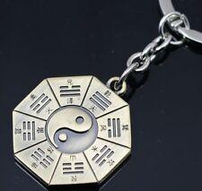 Taoism Amulet Tai Chi & Ba Gua Eight Trigrams Mental Key chain ring Dao KC2