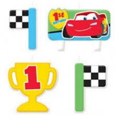 Disney Cars 1st Birthday Candles 4ct -