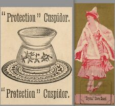 Brass Cuspidor Spittoon Protect of carpet floor Crystal Stove Board Trade Card