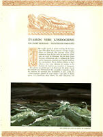 Publicité ancienne évasion vers l'Indochine André Demaison 1938 issue magazine
