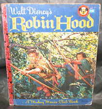 "Golden Book ""ROBIN HOOD""  #D48 -1955 - mickey mouse club edition"