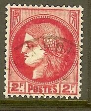 "FRANCE TIMBRE STAMP N°373 ""TYPE CERES, 2 F ROSE ROUGE"" OBLITERE TB"