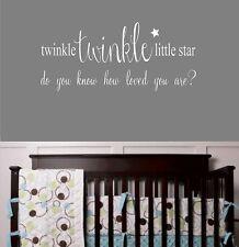 Twinkle Twinkle Little Star Childrens Nursery Vinyl Wall Decal Lettering Words