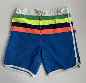 MINI BODEN Boys Multicoloured Striped Lined Swimming Beach Shorts - Age 11-12y