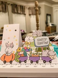 handmade Card Kit Stampin' Up! Easter Bunny 🐰 Train Step Card