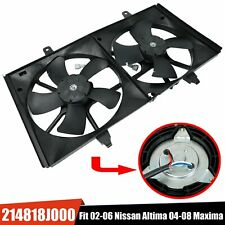 Dual Condenser Radiator Cooling Fan For 2002-2006 Nissan Altima/2004-2008 Maxima