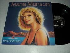JEANE MANSON 33 TOURS FRANCE SONGE D'UNE NUIT FRANCIS LAI BARBELIVIEN