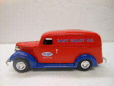 Ertl 1938 Chevy Panel Truck Diecast Bank East Coast Oil 1/25 Scale