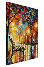 AT54378D Loneliness In Autumn By Leonid Afremov Framed Canvas Print Art Pictures