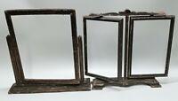 Antique Picture Frames Lot Of 2 Swivel Wood Art Nouveau Deco Victorian Carved