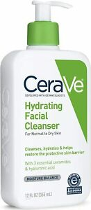 CeraVe Hydrating Daily Facial Cleanser - Normal to Dry Skin Fragrance Free 12 oz