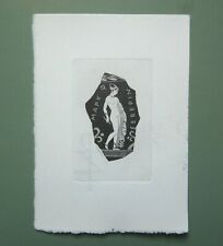 EX LIBRIS Bookplate Hans RANZONI for M Severin naked woman on Greek pottery
