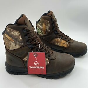 """Wolverine Men's Manistee 8"""" Hunting Boots 600g Insulated Waterproof Camo NWOB"""