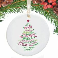 Personalised Typography Ceramic Christmas Tree Decoration