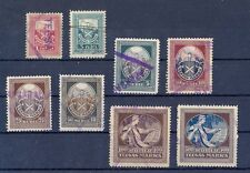 Latvia,1921, used court stamps set Nr: 2-9 from 1 rublis till 500 rubli !
